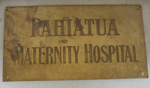 Brass Plaque - Pahiatua Maternity Hospital; 2006-2988-1
