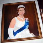 Framed Painting - Queen Elizabeth II; Evelyn McQueen; 2005-2889-1
