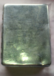 Chromed Metal cigarette box; 1984/1401/1