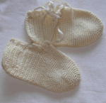 Babys Crocheted Bootees; 1983-1527-1