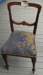 Blue Brocade chair; 1977/0302a/1
