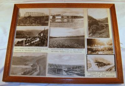 Framed Photo Board- Photo Board of District Bridges c1900's; 2005-2881-1
