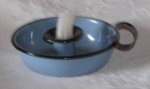 Blue Enamel Candle Holder; 1993-2029-1