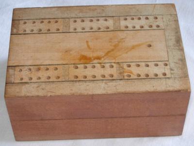 Wooden Cribbage board; 1979-0707-1