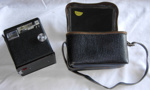 Brownie Six-20 E; Kodak; c1947-1957; 1999-2622-1 Camera and Case