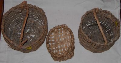 3 No. Handmade Baskets; 2006-3019-1