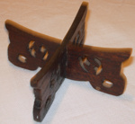 Black wooden plate stand; 1979-0737-1