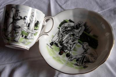 Large cup and saucer - Man's; Royal Albert; 2008-3220-1