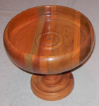 Wooden Bowl on Stand; 1994-2087-1