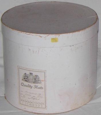 Cardboard Hat Box; 1981-1097-1