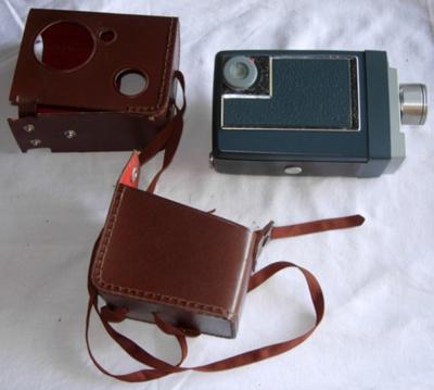 Kodak Movie Camera and case (Automatic 8); Kodak; c1960's; 2006-3085-1