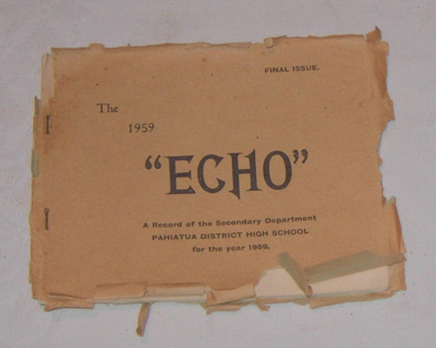 The PDHS 1954 Echo - Final Issue; 2003-2846-1