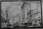 Framed photo of Willis St Wellington; 1992-1955-1