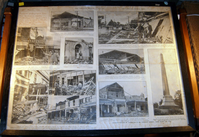 Framed Newspaper - Pahiatua Earthquake 1934; 1977-0497-1