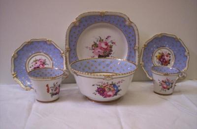 Blue Staffordshire China, 1800s, 1326