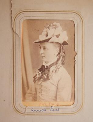 Carte de visite [Annette Lush]; Foy Bros; c. 1870s; XEC.5293.7.1