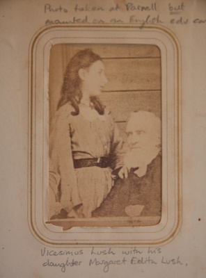 Carte de visite [Vicesimus Lush and Edith Lush]; c. 1870s; XEC.5293.2.2