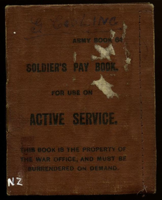 Cooling, George William Andrew: WWI Pay Book; 1918-1919; 1920-428-00001