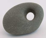 Greywacke Māhē (sinker stone); Unknown; New Zealand; 097-1998-078-0001