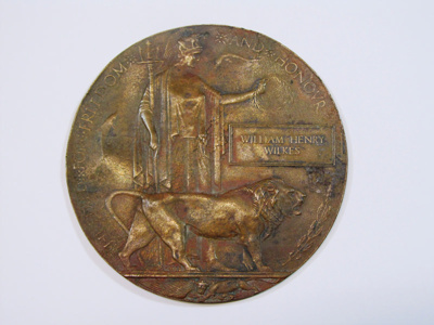 WWI Memorial Plaque – Dead Man's Penny; 2013-008-001