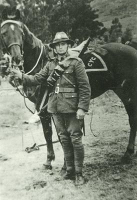Albert David Smith Collection - AD Smith by horse; P8553