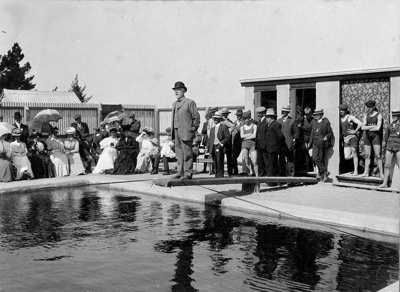 The first swimming baths in Waimate were erected i...