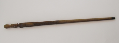 Wooden Maori Walking Stick; Unknown; 088-1900-352-0001
