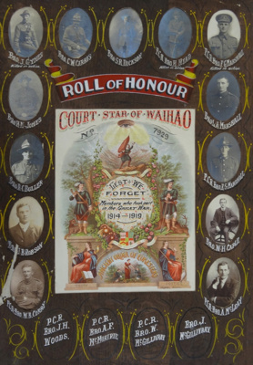 Roll of Honour Court Star of Waihao (No. 7929). An...