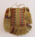 Kete, square with strap made of plaited flax.; 1970-098-0003