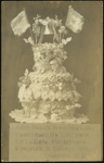 Photographic postcard of Amy Bock's Wedding Cake; 2002-1026-07391