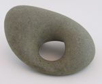 Greywacke Māhē (sinker stone); Unknown; New Zealand; 094-1980-479-0001