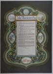 Illuminated Address to John Manchester Esq.; J. Wilkie & Co, Dunedin; June 1908; 2002-137-001