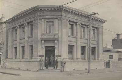 In 1927 the first Union Bank building was demolish...