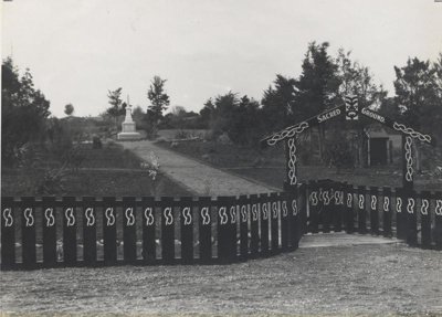 Maori Cemetery, Point Bush, H M Christie, c. 1936, 012-2002-1026-01311