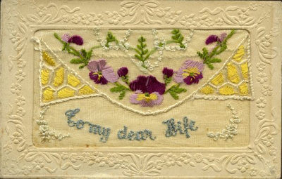 Embroidered Postcard (WWI).