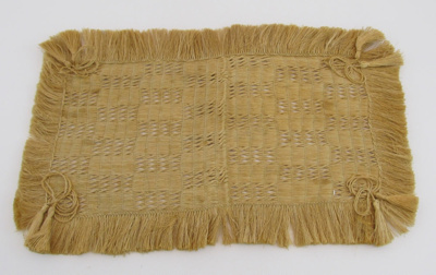 Made in a similar manner as a kete. Rectangular I ...
