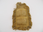 Woven flax letter holder ; 1889; 1900-455-0002