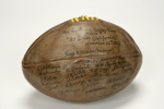 1913 Leather Match Ball - All Blacks vs 'California All Stars'; Unknown; Unknown; B314