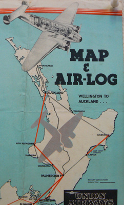 Map and Air-Log Union Airways  ; Union Airways; 4