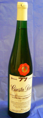 New Zealand National Airways Corporation Wine 1977; McWilliams Winery; 3