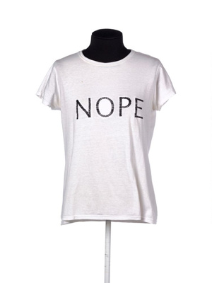 NOPE tee from the NopeSisters Fashion Line, 2017; A1 Embroidery and Screenprint Ltd; 2017