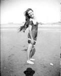 Trixie Denton at beach ; Adkin, Leslie; circa 1920; A.008863