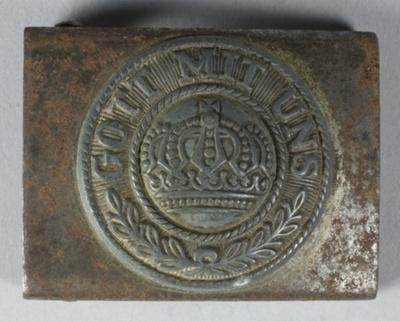Belt buckle, German, WWI ; Unknown; 1914-1918; GH023367
