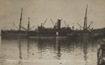 Troopship No. 5 (Ruapehu) at Clyde Quay Wharf. Wellington. NZ ; William Nees (unknown); 1914-1919; PS.002975