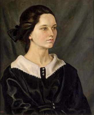 Portrait of a young girl ; Allen, W. H.; 1923; 1968-0017-1