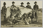 Postcard, 'German War Flag captured at Samoa by New Zealand Expeditionary Force' ; Wilson, William Thomas; 1914-1916; GH023107