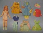 Paper doll and garments; Megget, Drusilla; c1958; GH011548/1-18
