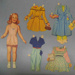 Paper doll and garments; Megget, Drusilla; c1958; GH011548/1-18