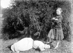 Woman and girl; Adkin, Leslie; c1920; A.005942