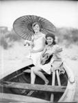 Two girls in boat ; Adkin, Leslie; ci1920; A.008873